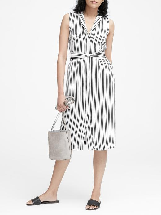 Çizgili Trenç Elbise