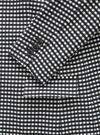 Kadın siyah desenli Long and Lean-Fit Blazer Ceket