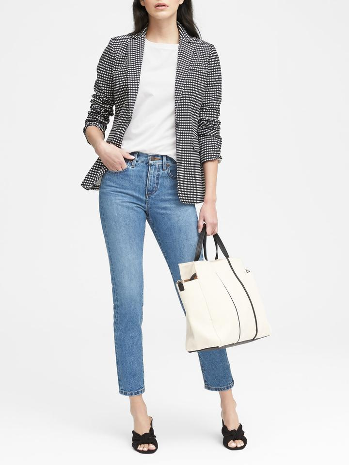 Long and Lean-Fit Blazer Ceket