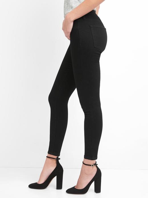 Kadın Siyah Washwell Orta Belli Jegging Jean Tayt Pantolon