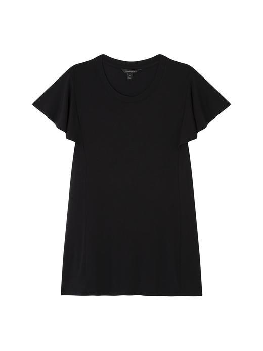Kadın siyah Yumuşak Dokulu Streç Bluz