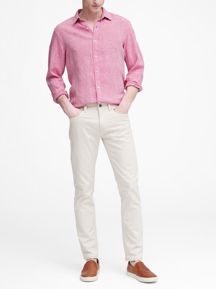 Standard-Fit Keten Gömlek