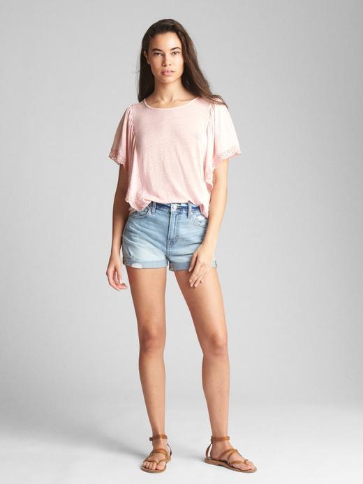Fırfırlı kısa kollu bluz