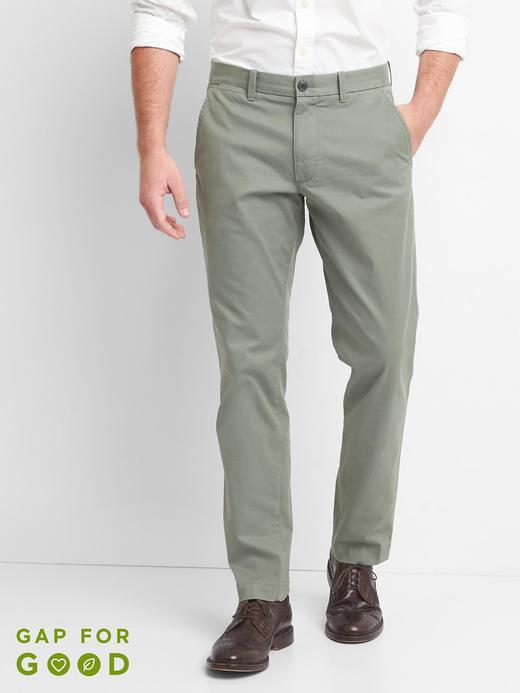 Erkek haki Slim Fit Gap Flex Khaki Pantolon