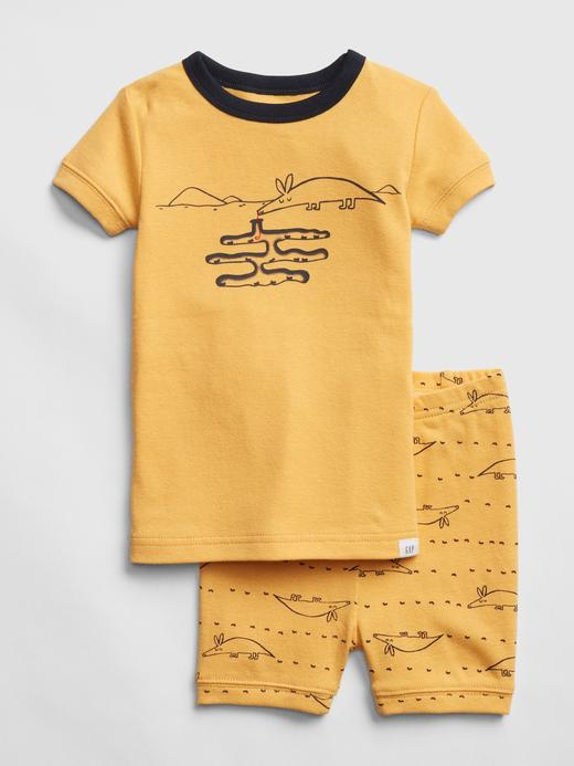 Bebek sarı Kısa Pijama Takımı