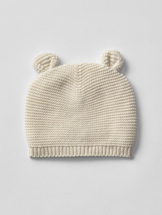 Bebek krem Örgü şapka