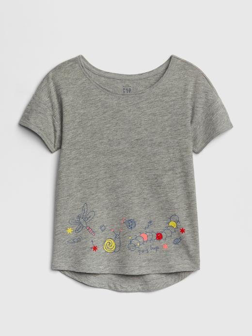 Bebek gri Baskılı T-Shirt