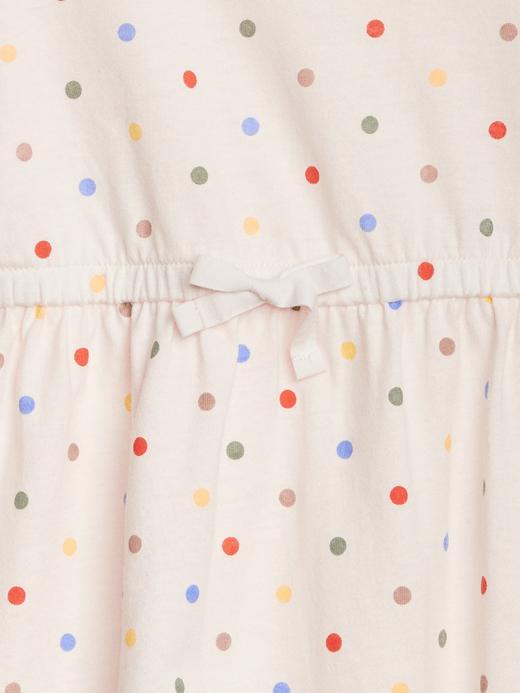 Bebek kırık beyaz Puantiyeli Elbise