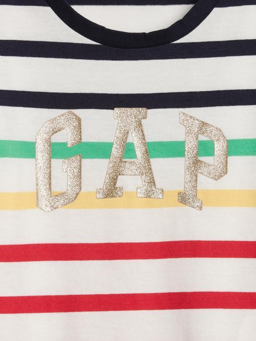 Gap Logo Çizgili Elbise