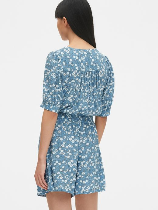 Çiçekli Kısa Elbise
