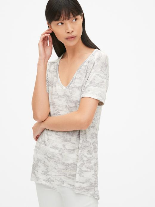 Kadın kamuflaj Kamuflaj T-Shirt