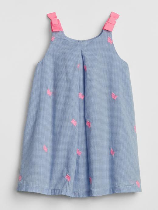 Bebek açık mavi Tavşan Desenli Elbise