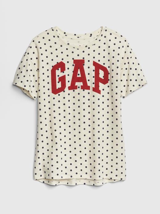 Kız Çocuk puantiyeli Gap Logo Kısa Kollu Tunik T-Shirt
