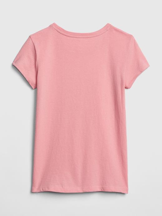 Kız Çocuk açık pembe Grafik Desenli Kısa Kollu T-shirt