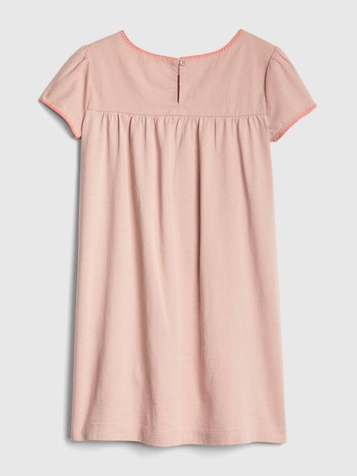 Kız Çocuk açık pembe Nakış Desenli Elbise