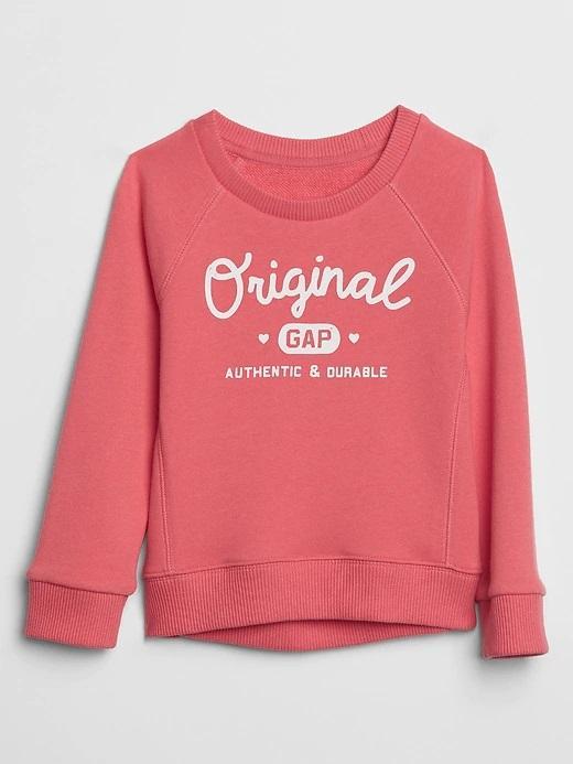 Bebek pembe Baskılı Sweatshirt