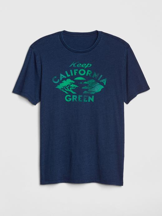 Erkek lacivert Baskılı T-Shirt