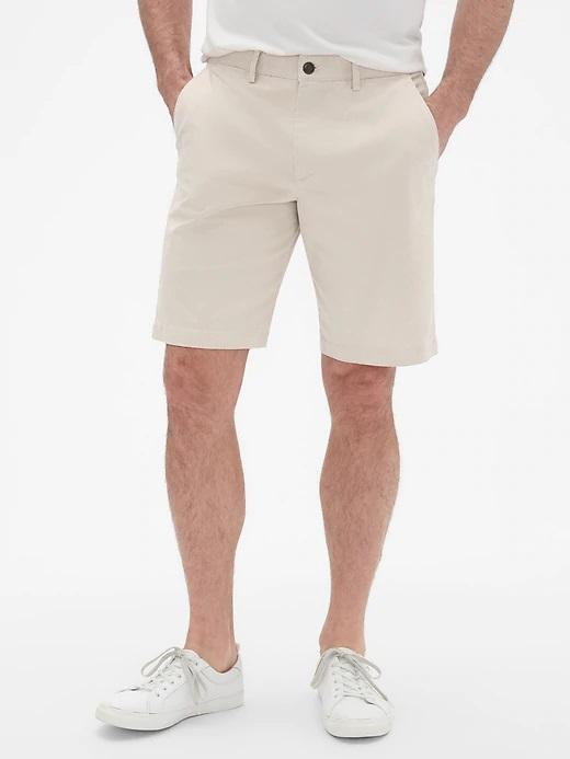 Erkek kırık beyaz GapFlex Khaki Şort