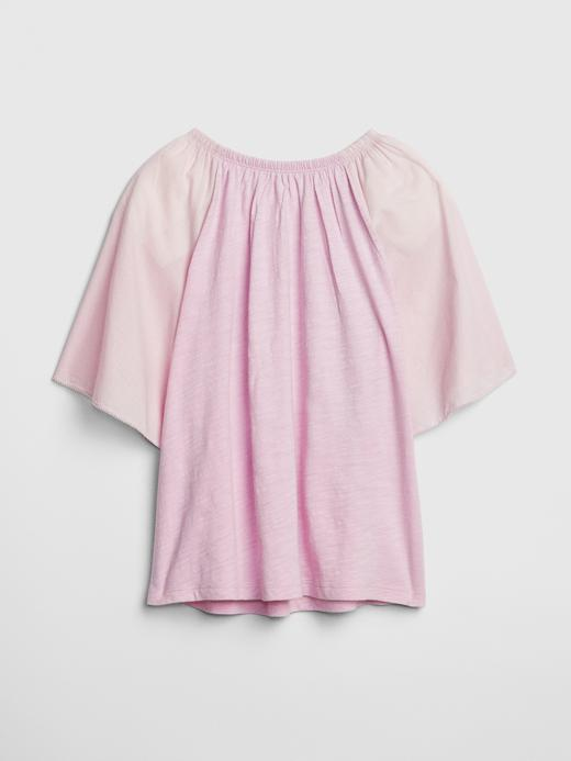 Uçuşan Kol Detaylı Bluz