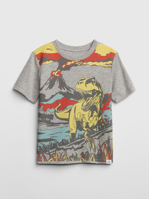 Bebek kırçıllı açık gri Kısa Kollu T-shirt