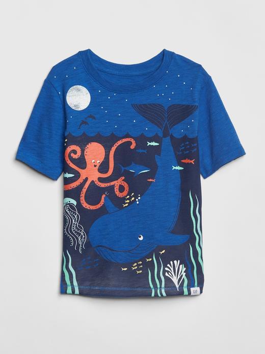 Bebek mavi Kısa Kollu T-shirt