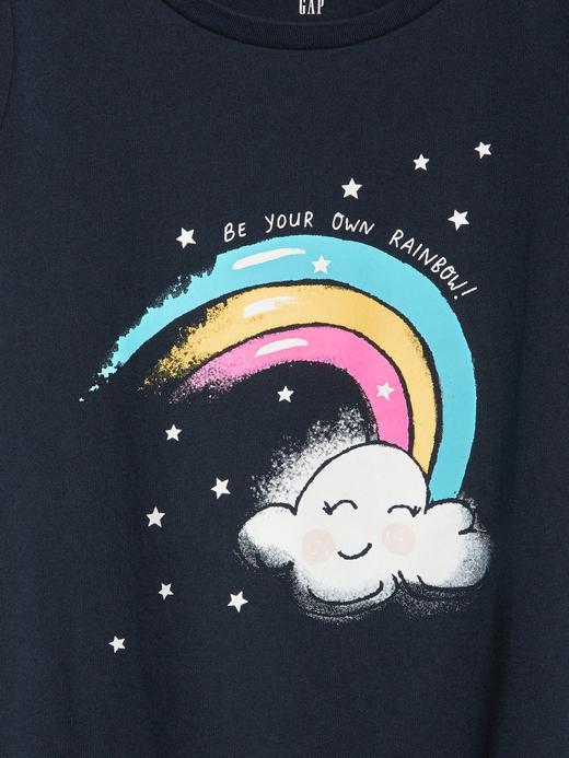 Bebek lacivert Kız Bebek Kısa Kollu T-shirt
