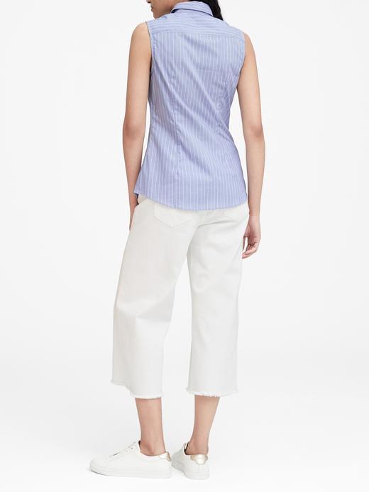 Kadın mavi Riley Çizgili Gömlek