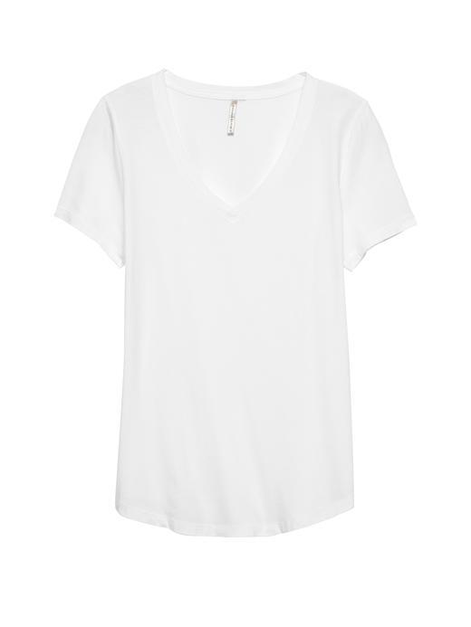 Kadın Beyaz SUPIMA Pamuk T-Shirt