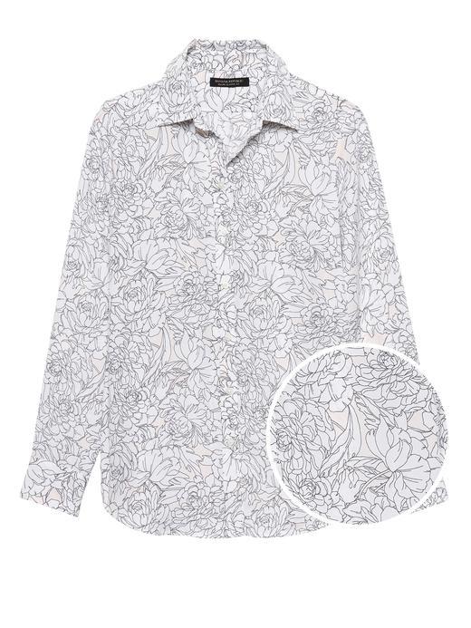 Kadın çiçek desenli Dillon Klasik Kesim Gömlek