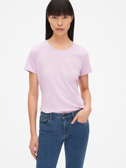 Kadın Vintage Kısa Kollu Sıfır Yaka T-Shirt