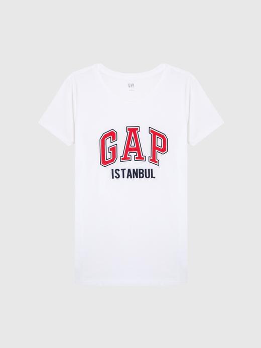 Logolu Kısa Kollu İstanbul T-Shirt