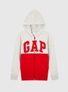 Erkek Çocuk kırmızı Gap Logo Fermuarlı Sweatshirt