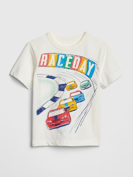 Grafik Desenli Kısa Kollu T-shirt