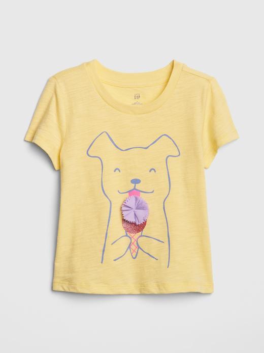Bebek sarı Grafik Kısa Kollu T-Shirt