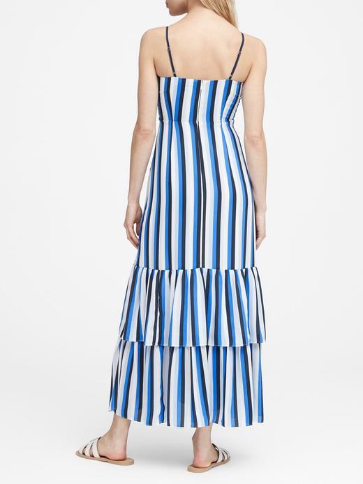 Çizgili Maxi Elbise