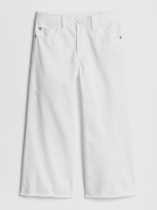 Wide-Leg Crop Denim