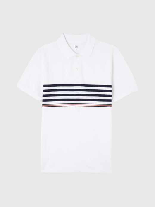 Erkek beyaz Kısa Kollu Pique Polo T-Shirt