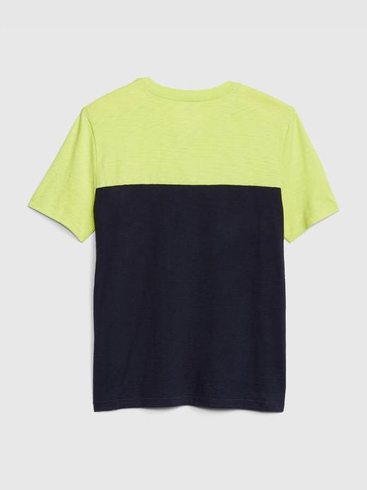 Colorblock V-Yaka T-shirt