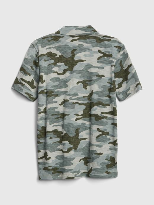Camo Kısa Kol Polo T-shirt