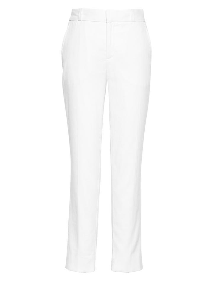 Straight-Fit Keten-Pamuklu Pantolon