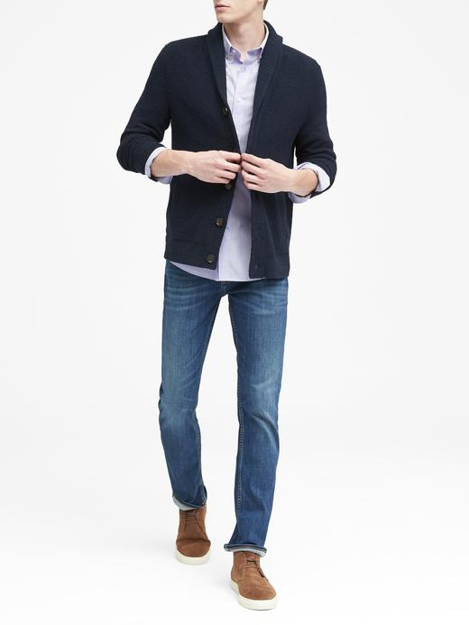 Slim-Fit Tech-Stretch Pamuklu Gömlek