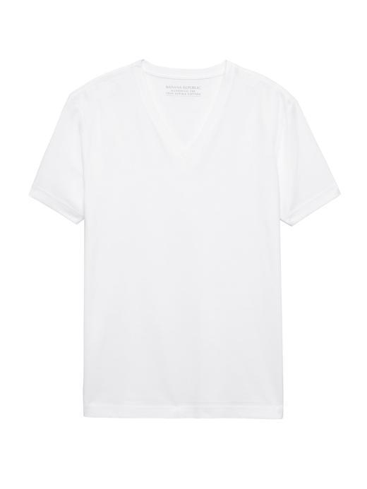 SUPIMA® Pamuklu V-Yaka T-Shirt