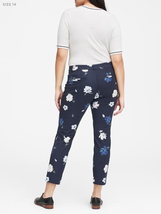 Kadın lacivert Sloan Skinny-Fit Çiçek Desenli Pantolon