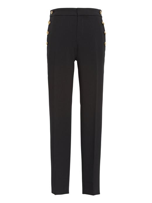 Straight-Fit Bilekte Pantolon
