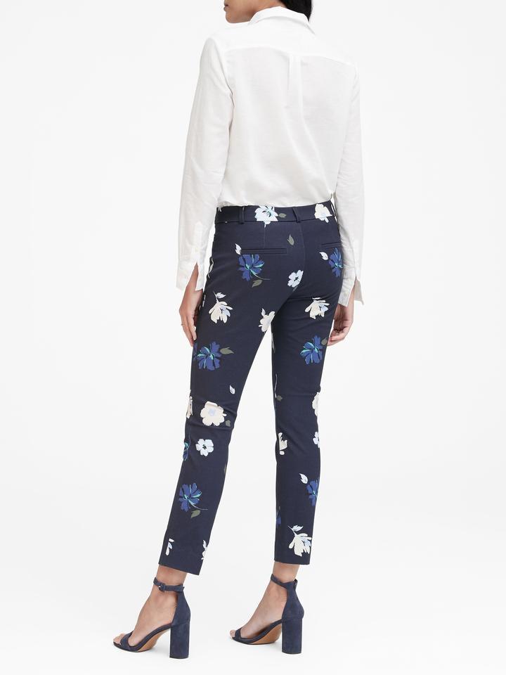 Sloan Skinny-Fit Çiçek Desenli Pantolon