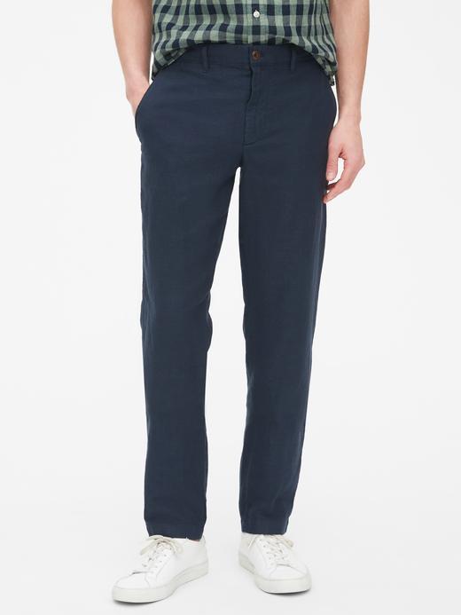 Slim Fit Keten Pantolon