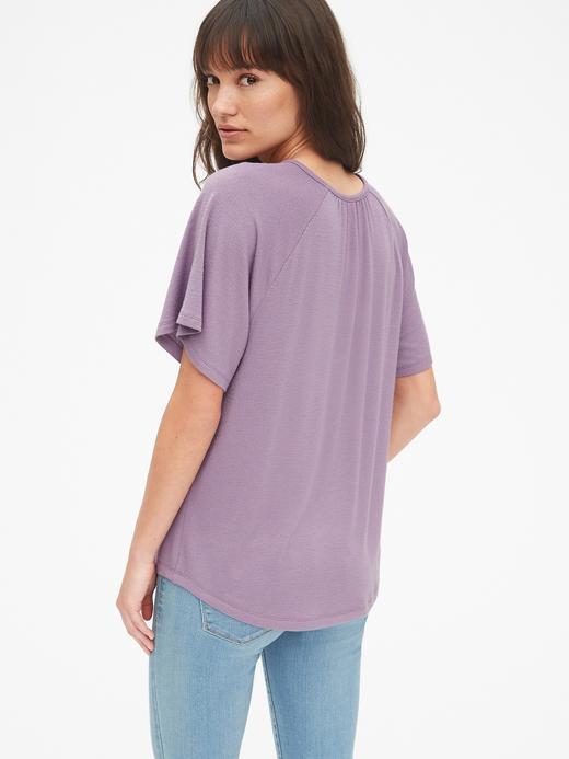 Softspun Kolları Volanlı T-Shirt