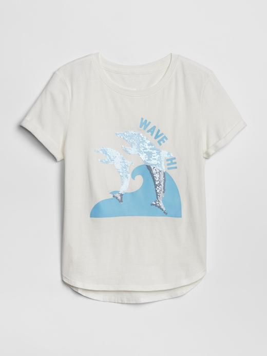 Kız Çocuk kırık beyaz Kız Çocuk Pullu T-Shirt