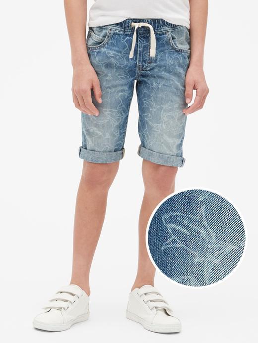Erkek Çocuk açık renk yıkama Erkek Çocuk Denim Pull-On Şort
