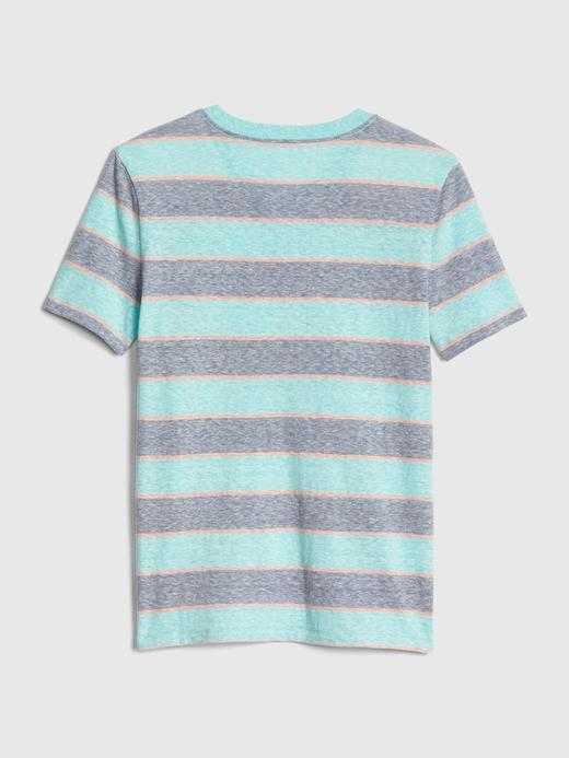 Erkek Çocuk su yeşili Erkek Çocuk V-Yaka Cepli T-Shirt